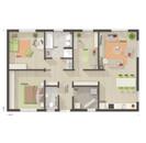 Bungalow-100-Erdgeschoss-zus-Zimmer-Gaeste-WC-Trend.jpg, Copyright © 2020 © 2020 Town & Country Lizenzgeber GmbH