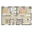 Bungalow-100-Erdgeschoss-Gaeste-WC-Trend.jpg, Copyright © 2020 © 2020 Town & Country Lizenzgeber GmbH